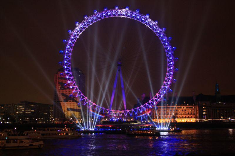 Le london eye s embrase pour la nouvelle - Image de londres a imprimer gratuit ...